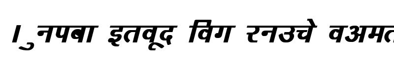 Preview of Kruti Dev 163 Bold Italic